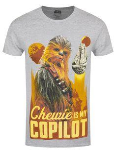 d4ffe168240b4 Star Wars Solo Chewie Co-pilot Men s Grey T-Shirt