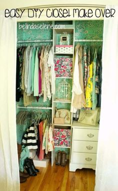 DIY Closet Organization Ideas for Messy Closets and Small Spaces. Organizing Hacks and Homemade Shelving And Storage Tips for Garage, Pantry, Bedroom., Clothes and Kitchen  |  Easy DIY Closet Make Over   |  http://diyjoy.com/diy-closet-organization-ideas