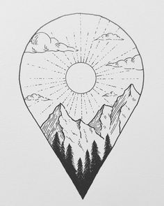 Discover recipes, home ideas, style inspiration and other ideas to try. Cool Art Drawings, Pencil Art Drawings, Doodle Drawings, Art Drawings Sketches, Easy Drawings, Doodle Art, Simple Doodles Drawings, Easy Nature Drawings, Stylo Art