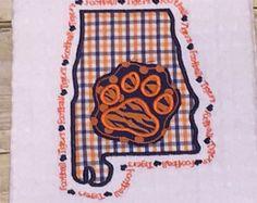 Auburn stato di Alabama Appliquéd bianco Waffle tessere asciugapiatti