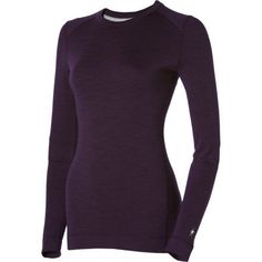 Smartwool Women's Midweight Crew, Deep Purple Heather size XS.    List Price:$80.00  Buy New:$47.97   You Save:40%  Deal by: AthleticClothingShop.com Deep Purple, Layers, High Neck Dress, Turtle Neck, Base, Sweaters, Stuff To Buy, Dresses, Fashion