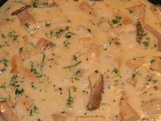 Kräuterseitlinge in Käsesahnesosse mit Pasta Kraut, Risotto, Pasta, Cooking, Ethnic Recipes, Food, Food And Drinks, Kitchen, Essen