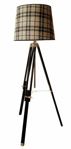 1000 images about rustic chic lamps on pinterest for Tripod floor lamp with tartan shade