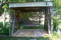My backyard swing.