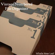 Vintage Numbered File Organizer