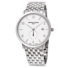Frederique Constant Men's FC-245SA5S6B 'Slim Line' Dial Seconds Swiss Quartz Watch