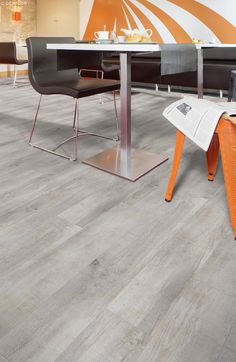 Creation 70 by Gerflor for high traffic - Color Denim Wood http://www.gerflor.com/products/professionals/floor/creation-70.html
