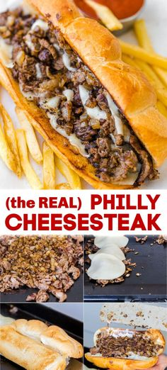 Feb 2020 - Philly Cheesesteak with tender ribeye steak, melted provolone, and caramelized onion in a garlic butter roll. Easy Philly Cheesesteak Sandwich video how-to. Steak Sandwich Recipes, Deli Sandwiches, Philly Cheese Steak Sandwich Recipe Easy, Dinner Sandwiches, Philly Cheese Steak Seasoning, Steak And Cheese Sub, Philly Sandwich, Philly Cheese Steak Sliders, Baguette