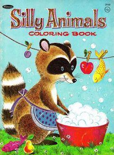 Mira este artículo en mi tienda de Etsy: https://www.etsy.com/es/listing/247264559/silly-animals-vintage-coloring-book