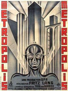 Metropolis 1927 - Boris Bilinsky French Posters (Affiches), Montages & Advertisement
