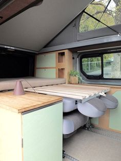 Kompanja CompanyA camper van to fall in love with and my personal Bus Camper, Kombi Motorhome, Camper Beds, Build A Camper Van, Sprinter Camper, Mini Camper, Mercedes Camper, Minivan Camping, Trailers Camping
