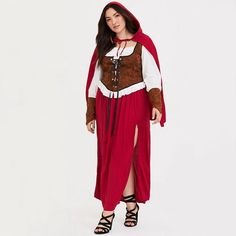 db46531512cda White Peasant Blouse, Red Riding Hood Costume, Plus Size Halloween, Plus  Size Costume
