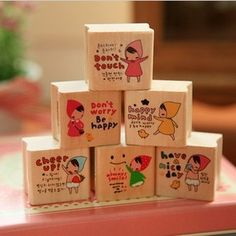 Min order $10 free shipping Hearts . stationery little red riding hood stamp cartoon girl wool diary stamp