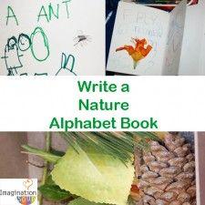 Write a Nature Alphabet Book- all ages!