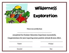 summer camp participation certificate 5 summer camp pinterest