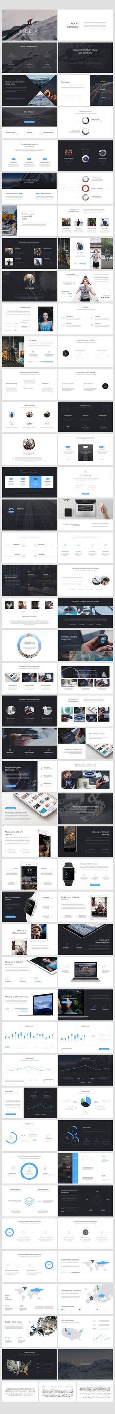 Helix PowerPoint Presentation by Entersge on @creativemarket