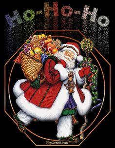 - Santa Ho Ho Ho - GIF