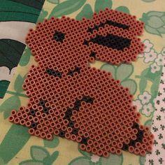 Rabbit hama perler beads by krumitott