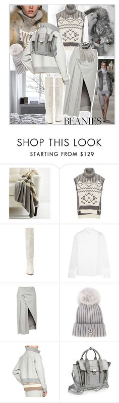 """Prabal Gurung"" by claramd ❤ liked on Polyvore featuring Frog Hill Designs, Prabal Gurung, Isabel Marant, Edun, Moncler, 3.1 Phillip Lim, Thomasine, grey, beanie and beanies"