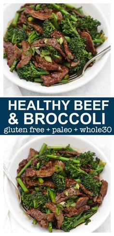 Healthy Beef and Broccoli – This take-out favorite is so easy to make at home and–BONUS–it's paleo, gluten free, and approved! Healthy Beef and Broccoli – This take-out favorite is so easy to make at home and–BONUS–it's paleo, gluten free, and approved! Healthy Beef And Broccoli, Broccoli Beef, Healthy Chicken, Beef With Broccoli Recipe, Ground Beef And Broccoli, Steamed Broccoli, Broccoli Salad, Healthy Dinner Recipes For Weight Loss, Clean Eating Recipes