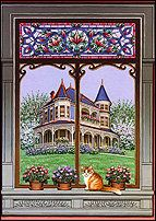 Sue Wall - Pet Portraits and Home Portraits - Traditional Miniature Paintings