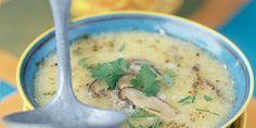Soupe de shiitake et lait de coco