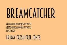 Friday Fresh Free Fonts - Breamcatcher