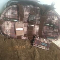 "Selling this ""ATTN SNOWBOARDERS: Burton Mark XIII Duffle &Wallet"" in my Poshmark closet! My username is: bogrady0123. #shopmycloset #poshmark #fashion #shopping #style #forsale #Burton #Handbags"