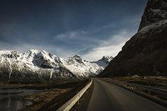two bridges behind | fredvang, norway by elmofoto, via Flickr