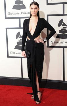 Bella Hadid en robe Alexandre Vauthier aux Grammy Awards 2016
