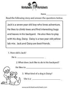 Reading Comprehension Practice Worksheet Printable free comprehension worksheets free comprehension worksheets The Effective Pictures We Offer You About Reading Comprehension in hindi A quality pictur Free Reading Comprehension Worksheets, 1st Grade Reading Worksheets, First Grade Reading Comprehension, Kindergarten Reading, Reading Strategies, Reading Skills, Reading Homework, English Reading, Free Printable