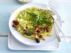 Omelett in köstlichen Variationen - rauke-antipasti-omelett  Rezept