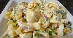 Υπέροχη σαλάτα να την προσθέσουμε στο τραπέζι μας ,αλλά και πλήρες γευστικό γεύμα .Αν περισσέψει την σκεπάζουμε στο ψυγείο και γίνετε όλο και πιο νόστιμη !!! Είναι πραγματικά πεντανόστιμη !!! Υλικά…