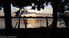 Sunset on Batticaloa lagoon