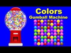 Colors for Children to Learn with Gumball Machine - Colours for Kids to Learn - Kids Learning Videos - YouTube