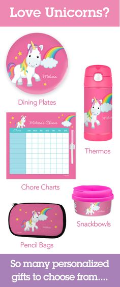 Have a Unicorn lover? Find so many options of very cute personalized gifts for girls in our store. Many price ranges and options.