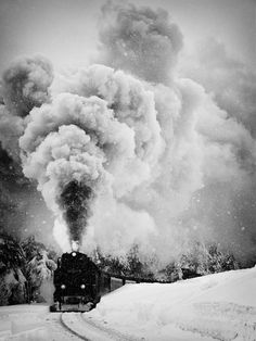 steam, smoke and snow