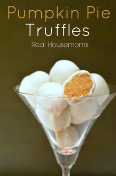 These pumpkin pie truffles are so easy to make and they are the perfect way to change up pumpkin pie for a quick party dessert!