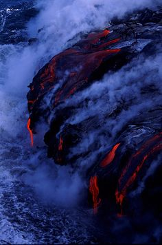 Where lava meets the ocean-photos