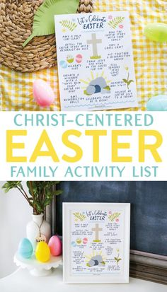 Prepare your heart for with this FREE printable Christ-Centered Easter Family Activity List. It's full of simple ideas to create, learn, and engage with the incredible hope of Easter and is perfect for kids of all ages! Easter Activities For Kids, Easter Crafts For Kids, Family Activities, Easter Story For Kids, Catholic Easter, Easter Religious, Jesus Easter, Diy Ostern, Easter Traditions