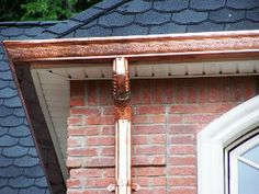 Gutter Repair and Installation - Curb Appeal Roofing Construction: Oklahoma City Roofers Seamless Gutters, Copper Gutters, How To Install Gutters, Wood Shingles, Roofing Shingles, Roof Types, Roofing Materials, Roofing Contractors, Roof Repair