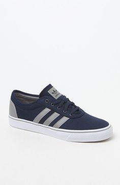 Hooked on adi Ease Navy & Grey Shoes that I found on the PacSun App