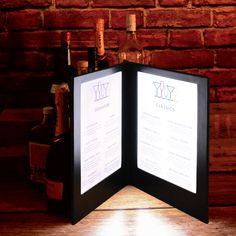 Make your elegant restaurant menu design with these illuminated menu covers. Menu Covers, Restaurant Menu Design, Led, Make It Yourself, Elegant, Frame, Classy, Picture Frame, Chic