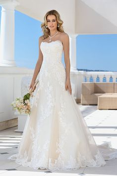 WHOLE WEDDING DRESS COLLECTION     Wedding dresses by Ladybird Bridal Discover your dream wedding dress in the extensive wedding dress collection of Ladybird bridal. These affordable designer wedding dresses are stylish and have the perfect fit for any figure. Each bride is unique and this reflects