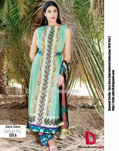 Design No. 159-A From Zara Sara Embroidered Lawn 2015 Vol.2 By Dawood Textile