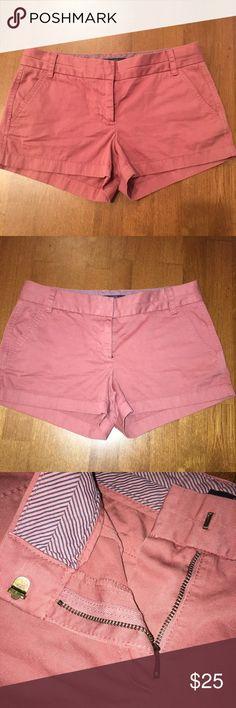 Pink J crew chino shorts size 6 Pink J crew chino shorts size 6 J. Crew Shorts
