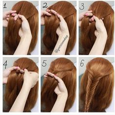 French Braid Step By Step 1 Take A Section Of Hair 2