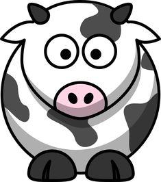 Free cartoon cow clip art from @OnlineLabels.com.com.com