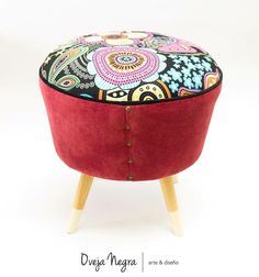 Ottoman, Retro, Chair, Furniture, Home Decor, Couches, Neo Traditional, Rustic, Stool