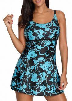 Cheap blue Swimwear online for sale Plus Size Swimsuits, Modest Swimsuits, Vintage Swimsuits, Swim Dress, Bra Styles, Bikini Fashion, Tankini, Fashion Outfits, Womens Fashion